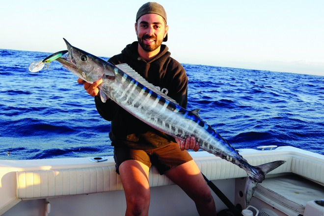 Peter held up a great sized school wahoo that took an ELKAT 120mm Striker Deep Diver.