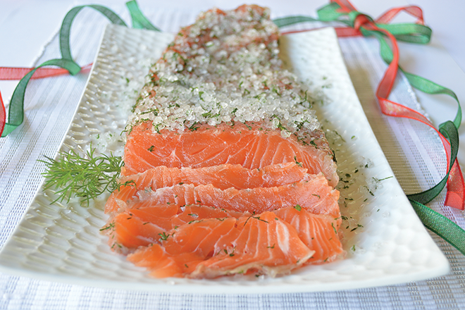 cured salmon with dill recipe