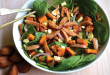 Pumpkin, spinach and bunya nut salad